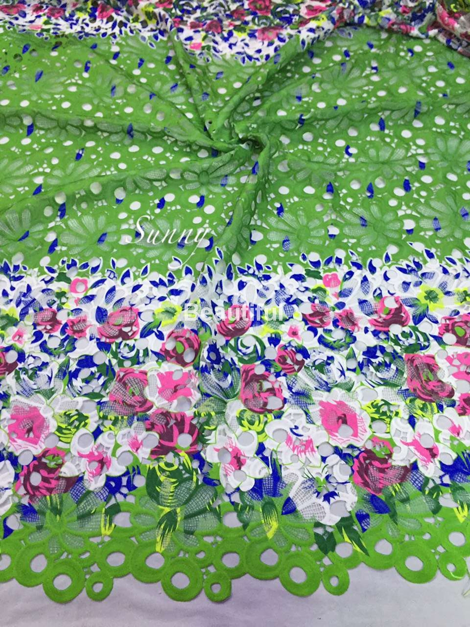 2015  Floral printed african cord lace fabric cuipion lace net guipure  for weddingparty dress 5yards Multicolors available