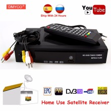 Digital Terrestrial Satellite TV Receiver Combo dvb t2 S2 HD 1080P dvb-t2 dvb-s2 tv Box H.264/MPEG-4 Support bisskey For Russia