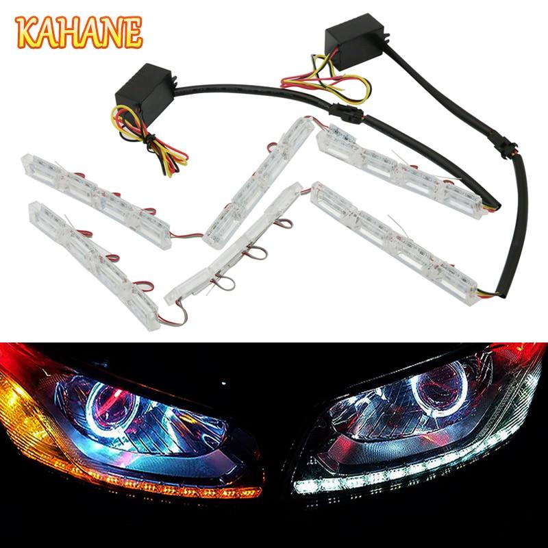 KAHANE 2x Car LED Flexible DRL Daytime Running Light Turn Signal Light FOR BMW M E60 F10 X5 E53 E46 E39 E90 Nissan Qashqai Juke