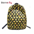 Cute Smiley face emoticon Printing School Bags for Children Canvas Backpacks For Teenager Girs Laptop Backpack Mochila Feminina