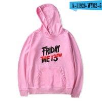 Friday The 13Th Hoodie The Game Horror Killer Puzzle Printed Jacket Hooded Women Hoodies Pullover Hoodies Sweatshirts 2019 Pink