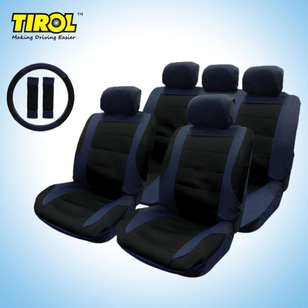 TIROL Nueva cubierta de asiento de automóvil Delantero trasero Juego - Accesorios de interior de coche