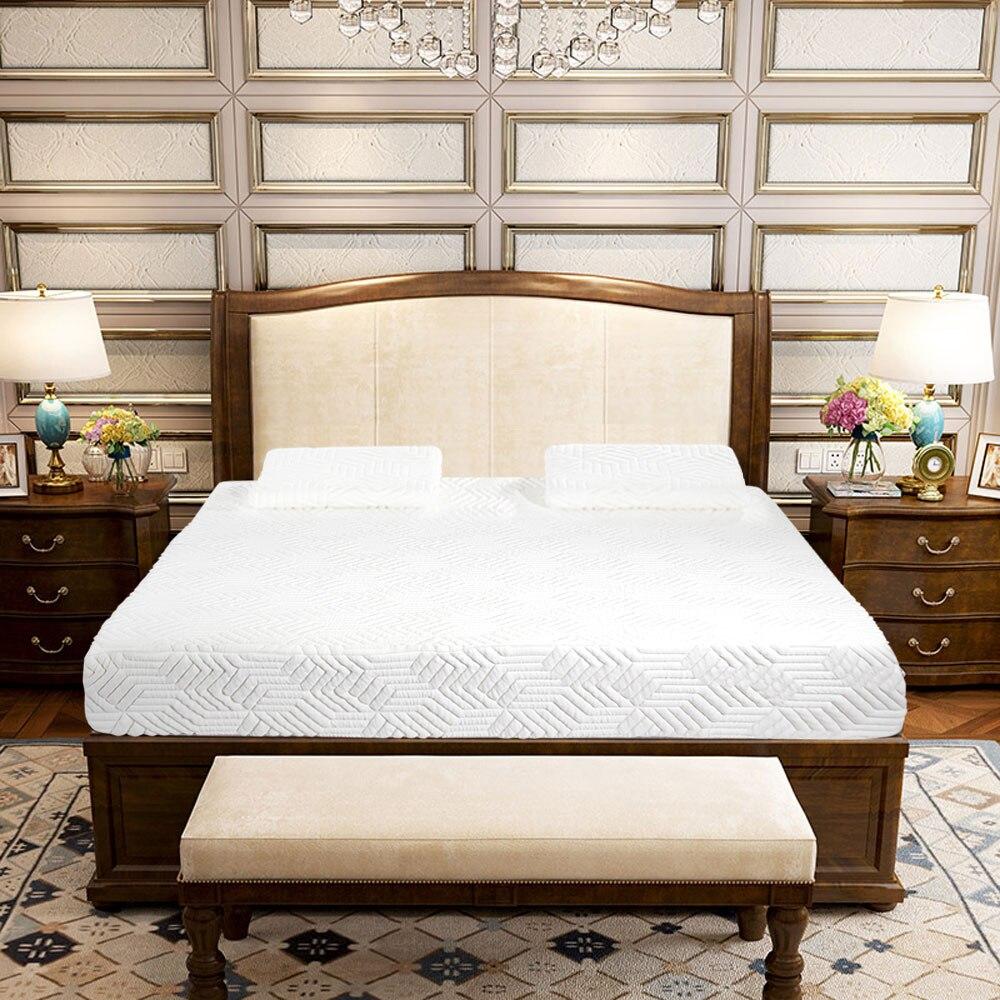 10 drei Schichten Atmungsaktive Baumwolle Matratze Pad Kühlen Medium Hohe Weichheit Memory Foam Matratze Mit 2 Kissen Weiß Uns Lager Wohnmöbel