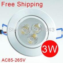 Free shipping led ceiling light 3W LED ceiling lamp bulb 300lumen CE&RoHS AC85V-265V 220V 110VWarm cool white