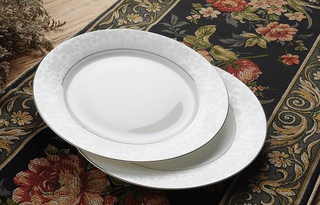 8 inch white bone china dinner plates enamel fruit dish chinese porcelain plate - China Dinner Plates