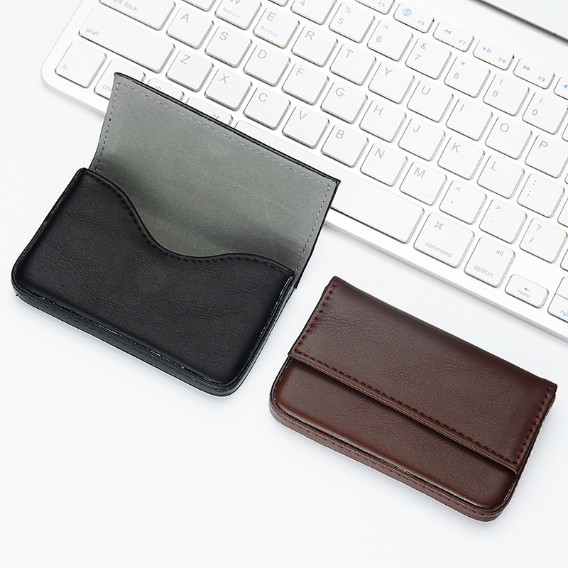 Credit Card Holder Automatic Magnetic Cardholder Business Card Box ...
