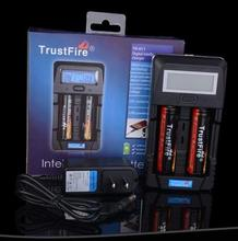 TrustFire TR-011 Digital Smart LCD Display Battery Charger+2pcs TrustFire Protected 18650 3.7V 2400mAh Li-ion Battery,20set/lot цена