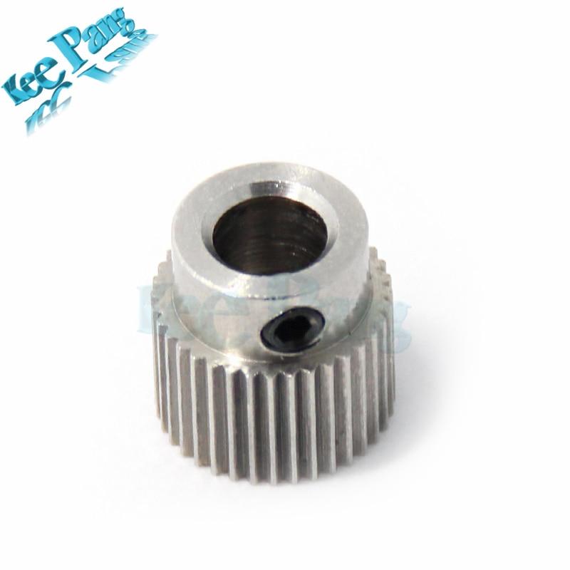 1pc MK7 MK8 36 Teeth Drive Gear Stainless Steel Extruder Feeding Gear Wheel 36 Tooth Extrusion Wheel For 3D Printer die steel feeding extrusion wheel for 3d printer black