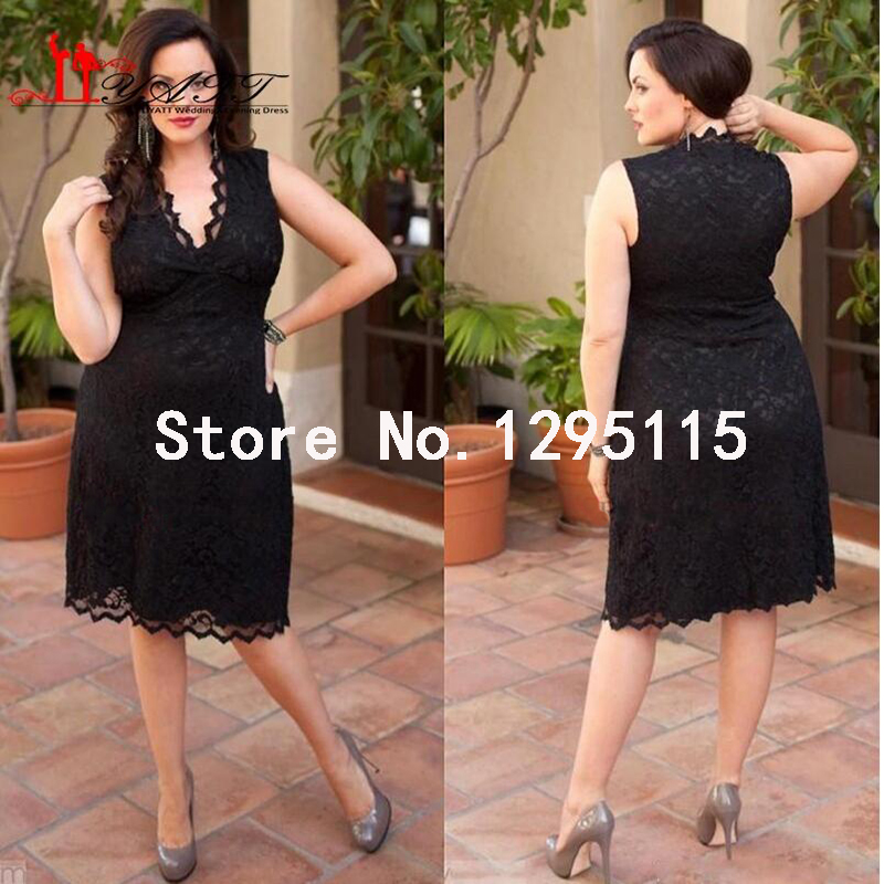 Cheap plus size black cocktail dresses