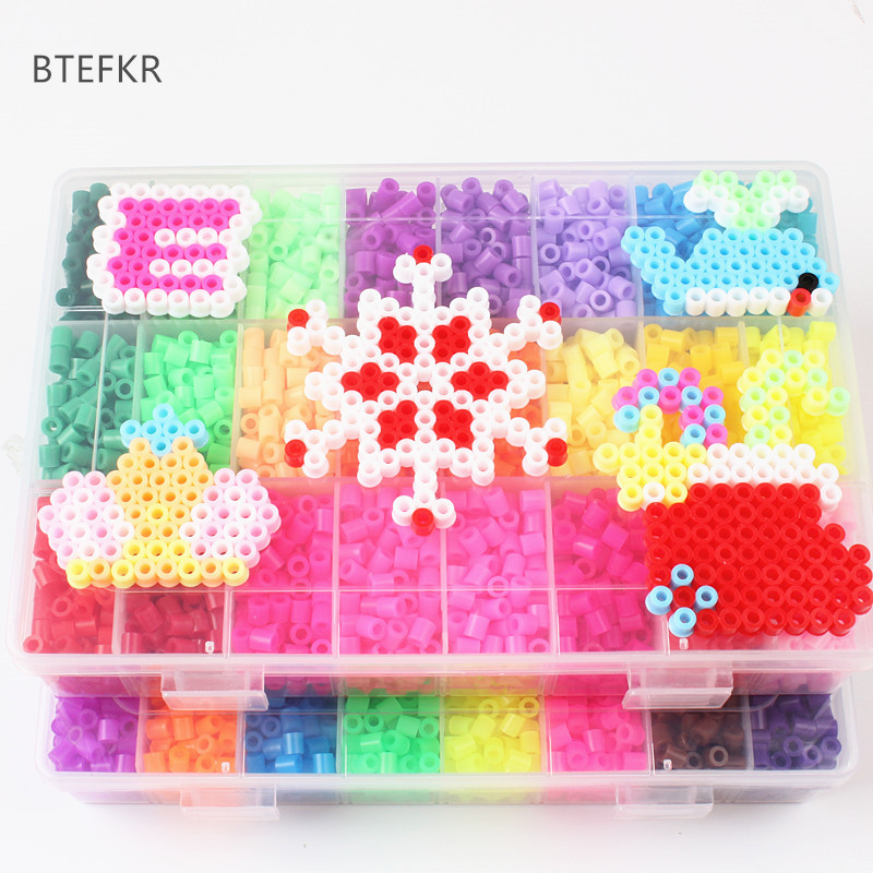 4600pcs/set Hama Beads Educational Jigsaw Toys 48 Colors 5mm Perler Beads For Children 3D Puzzle Diy Toys Fuse Beads Pegboard