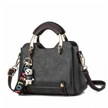 Fashion Women Handbags Cute With Bear PU Leather Totes Bag Top-handle Crossbody Shoulder Lady Casual Girls Hand Bags