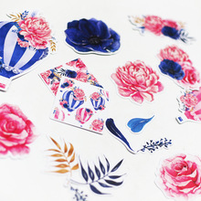 Forest Watercolor Flower Hydrogen Balloon Stickers Adhesive Stickers DIY Decoration Stickers