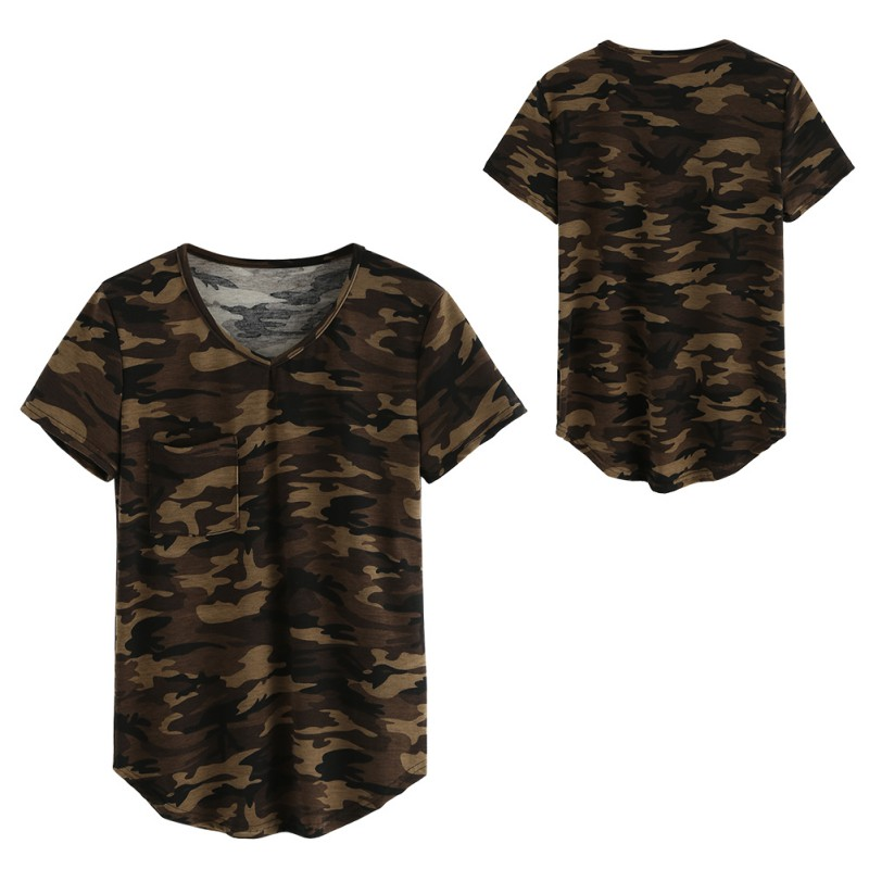 Nieuwe Dames Kleding T-shirts Zomer Leger Korte mouw Tops Camouflage - Dameskleding - Foto 5