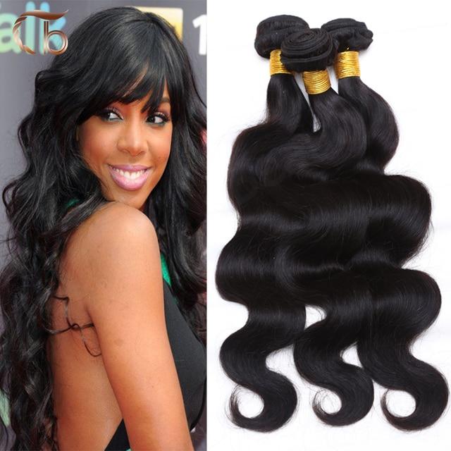 Unprocessed brazilian virgin hair body wave 4pcs per lot human hair weave bundles customized 8-30 inches hair extensions