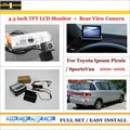 """Car Rear Camera + 4.3"""" LCD Screen Monitor = 2 in 1 Back Up Parking System - For Toyota Ipsum Picnic / SportsVan 2000~2009"""