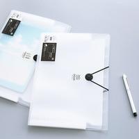 Elastic Closure Folder A4 5 Layer 8 Layer 12 Layer Transparent Scrub Simple Style File Folder