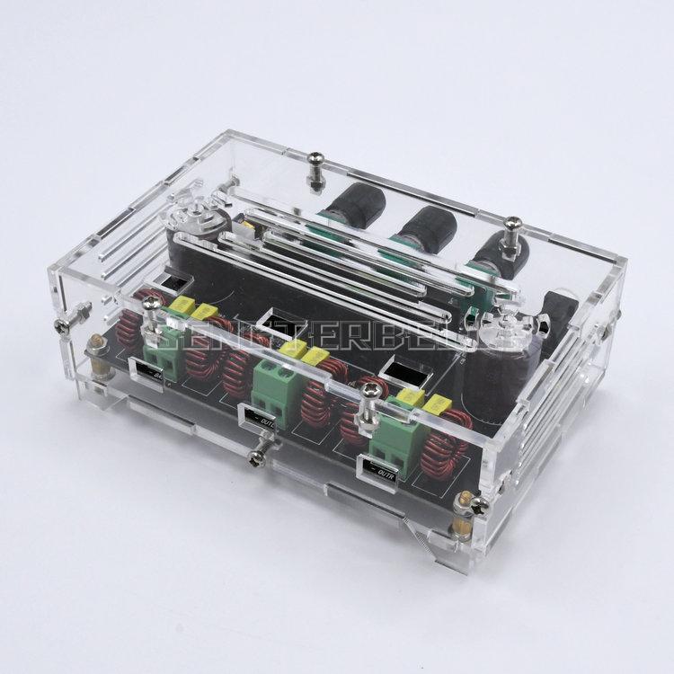 XH-M574 высокомощный 2,1-канальный TPA3116D2 цифровой усилитель мощности плата 80 Вт + 80 Вт + 100 Вт с кристальной оболочкой