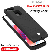 NTSPACE Battery Charger Cases For OPPO R15 Power Bank Case 6800mAh Ultra Slim Portable Cover Rechargeable