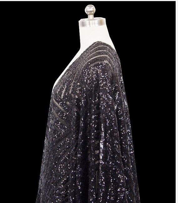 Tissu en paillettes noires, accessoire de photographie de mariage, tissu en paillettes de luxe, par la cour