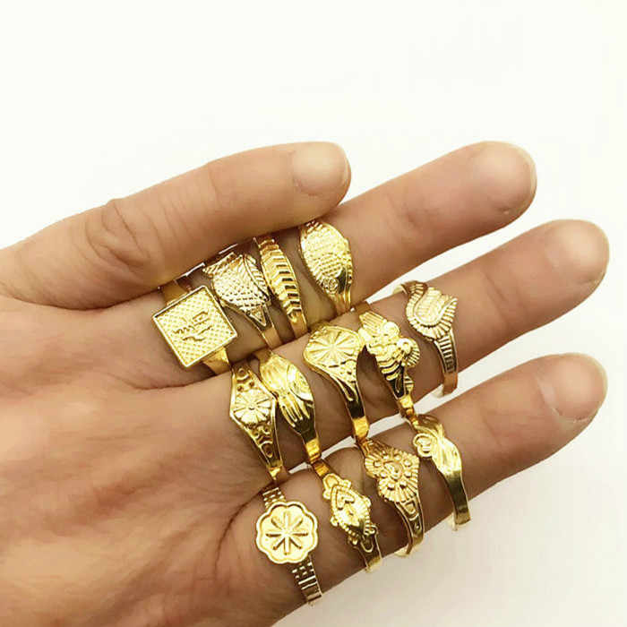 1 قطعة بيع الذهب اللون/أسود/فضي/اللون الزفاف العصابات خاتم الأزواج الفولاذ المقاوم للصدأ خاتم الخطوبة الفتيان هدية