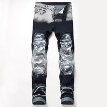 HIP HOP PUNK 21 Design Models 2019 Spring New Mens Skinny Biker Jeans Denim Ripped Hole Stretch Trousers PLUS US SIZE 28-42(China)