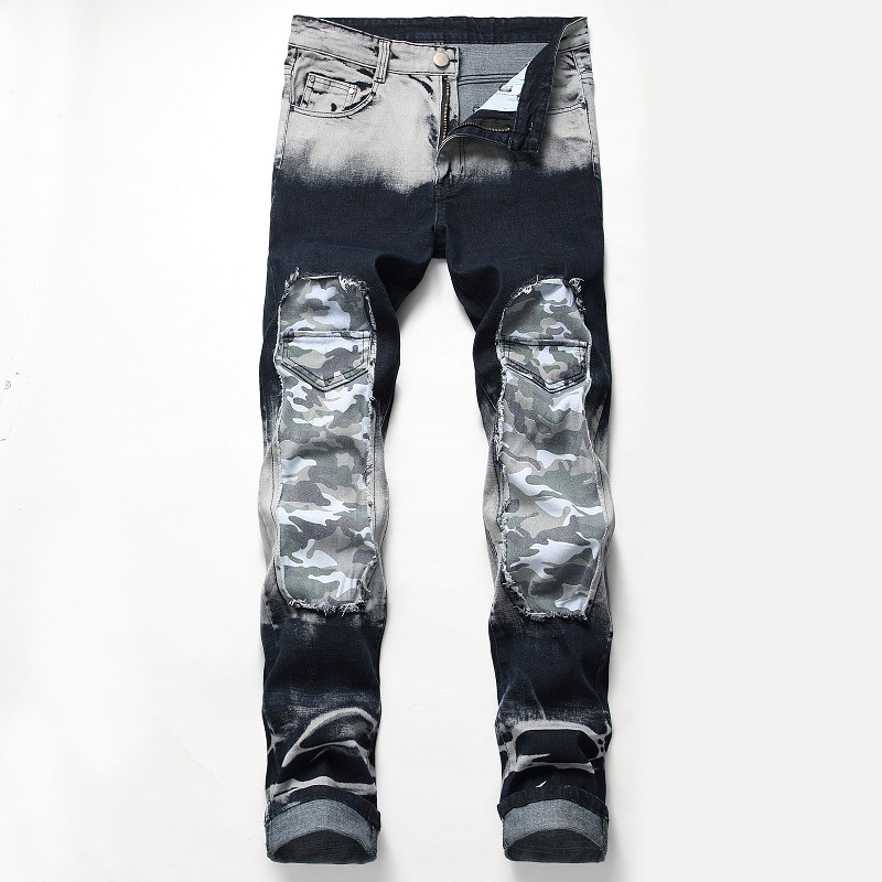 HIP HOP PUNK 21 Design Models 2019 Spring New Mens Skinny Biker   Jeans   Denim Ripped Hole Stretch Trousers PLUS US SIZE 28-42