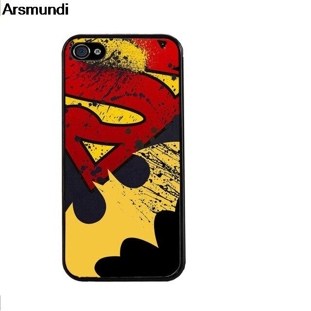 Arsmundi Batman Vs Superman Marvel Superhero Phone Cases for iPhone 4 5S 6S 7 8 Plus X for Samsung Case Soft TPU Rubber Silicone
