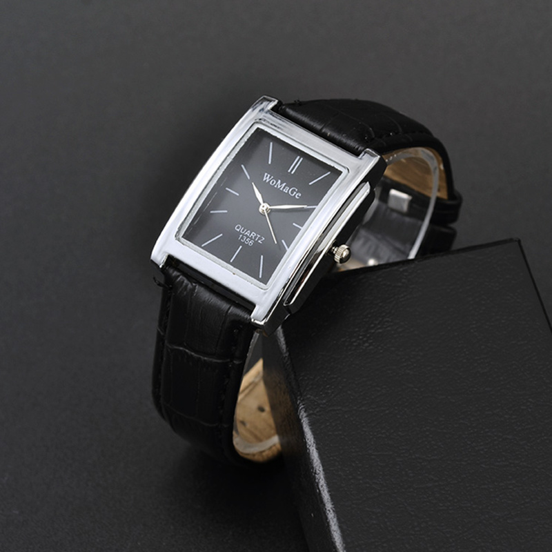 WoMaGe Women's Watches Top Brand Luxury Ladies Watch Women Watches Leather Strap Women's Rectangle Watch Clock Reloj Mujer