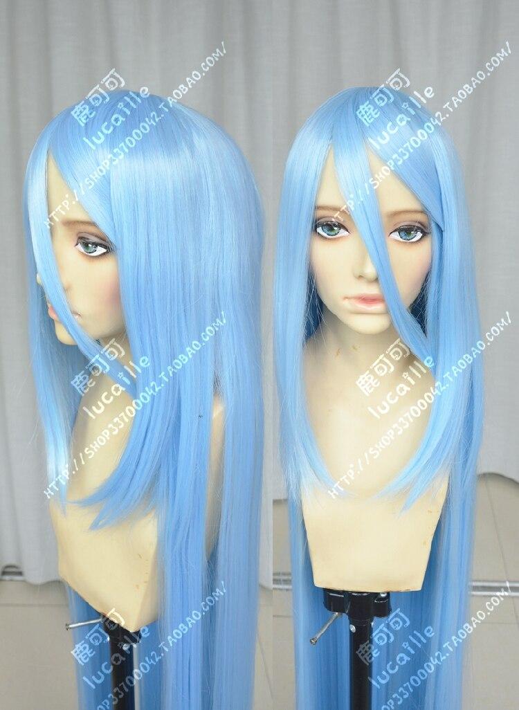150cm Fire Emblem Fates Birthright Aqua Azura Cosplay Anime Wig CAP Track no