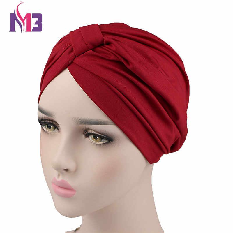 ... Nueva moda mujer elástico Modal algodón Turbante Domo gorra para la  cabeza de la quimio Twist ... 5722307c7a4