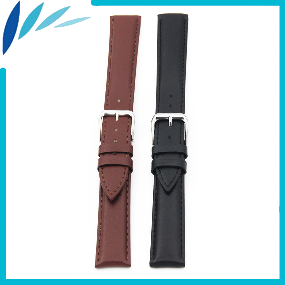 Genuine Leather Watch Band 18mm 20mm for DW Daniel Wellington Stainless Steel Pin Clasp Strap Wrist Loop Belt Bracelet Black