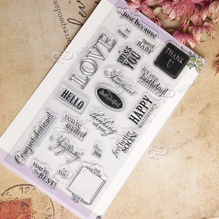 WORD LETTER SLOGAN Scrapbook DIY photo cards account rubber stamp clear stamp transparent stamp school Kid gift scrapbook diy photo cards account rubber stamp clear stamp finished transparent chapter wall decoration 15 18