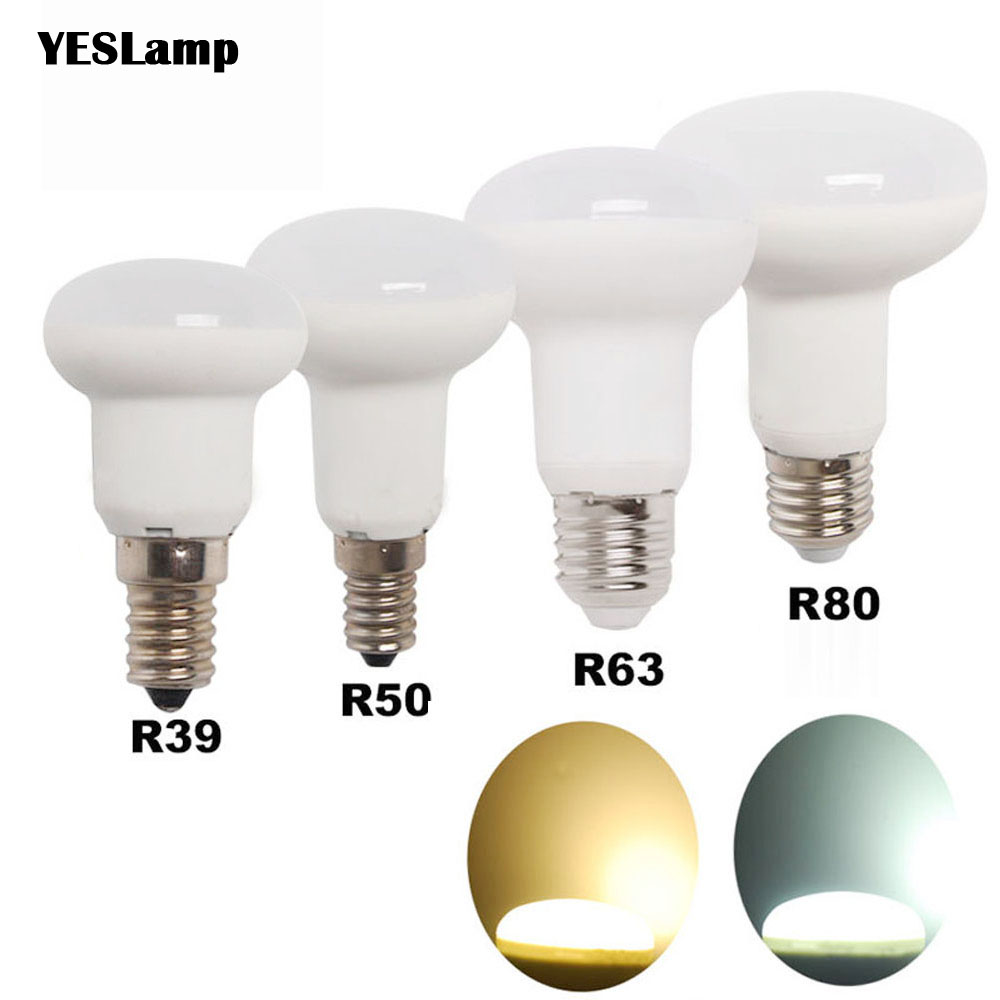 e14 e27 dimmable led bulb r39 r50 r63 r80 bombillas lamp. Black Bedroom Furniture Sets. Home Design Ideas