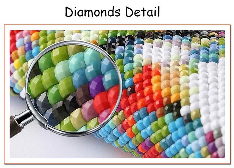 Tiger taladro completo Mosaico 5D Diy Diamond Bordado Pintura Resina - Artes, artesanía y costura - foto 6