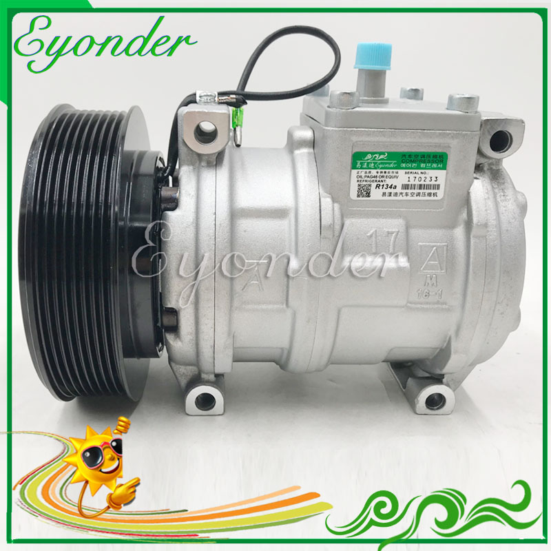 US $102 6 5% OFF AC A/C Air Conditioning Compressor Cooling Pump 10PA17C  for JOHN DEERE TRACTOR Series 5 7020 8030 Series 4 5 9 0 8 2 447170 9490-in