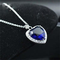AAA 100 925 Silver Necklace Valentine S Day Romantic Titanic Heart Pendant Necklace Free Shipping