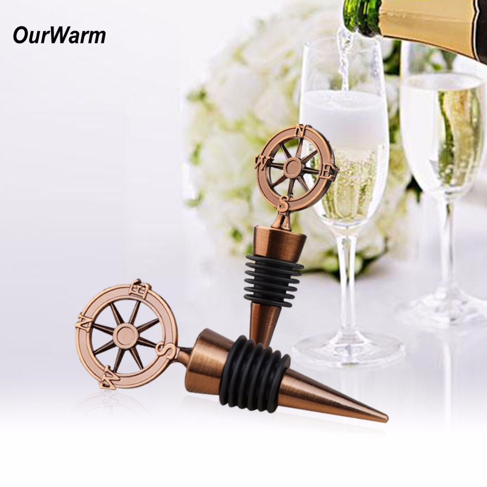 Wine Wedding Gifts: OurWarm 10pcs Metal Wine Bottle Stopper Wedding Gifts For