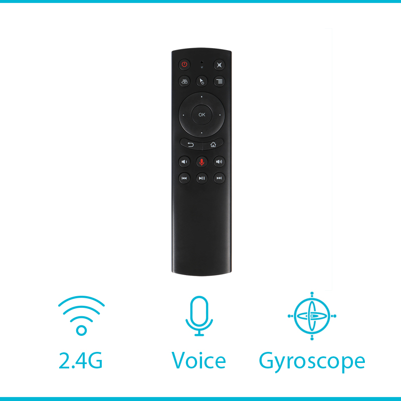 G20S Voice Control 2.4G Wireless G20S Air Mouse Keyboard Motion Sensing <font><b>G10S</b></font> Remote Control For Android TV Box pk w1 air mouse image