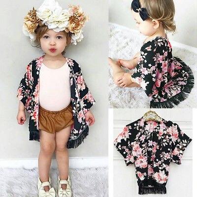 Summer Kids Toddler Child Girl Thin Floral Cardigan Sunsuit ...