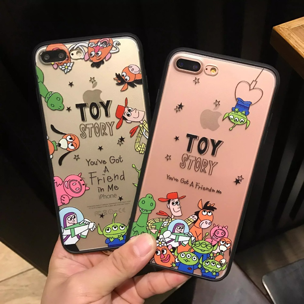 For iPhone XS Max XR X Toy Story Woody Buzz Lightyear