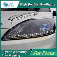 high quality Car styling case for Ford Focus 2009 Headlights LED Headlight DRL Lens Double Beam HID Xenon