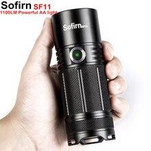 Sofirn SF11 мощность светодио дный ful светодиодный фонарик Тактический AA факел Cree XPL 1100lm светодио дный LED высокое мощность свет лампы Индикатор мощность 6 режимов Кемпинг