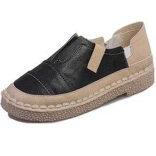 Vintage Stil Damenschuhe Reine handgemachte Einzel Schuhe Komfortable Weichen Boden Hochschule Wind Doug Fauler Set Fuß Freizeitschuhe