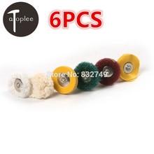6pcs Polishing Wheel Buffing Pad Brush Jewelry Metalworking Dremel Accessories for Rotary Tools Polishing Pads