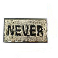 Sequins letters patch 22cm never golden deal with it iron on patches for clothing 3d t shirt mens, t shirt Women free shipping