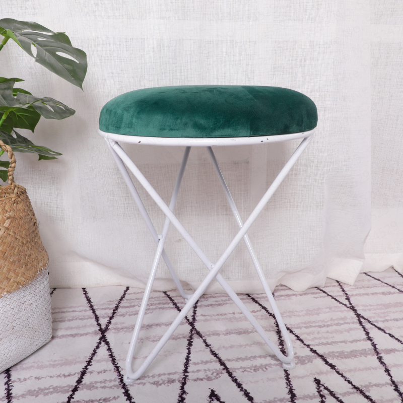 1B Living Room Sofa Footrest Stool Makeup Dressing Stool European Style Iron Art Shoes Bench Bedroom Coffee Table And Chair