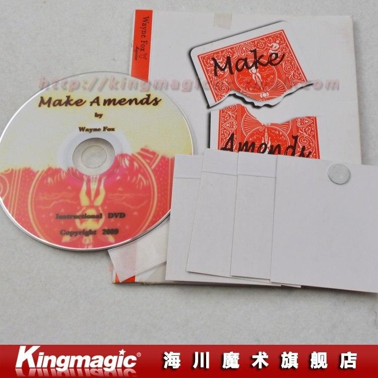 Kingmagic загладить Уэйн Фокс/с DVD/крупным планом магии/магический реквизит/фокусы/ как видно на TV/ по CPAM