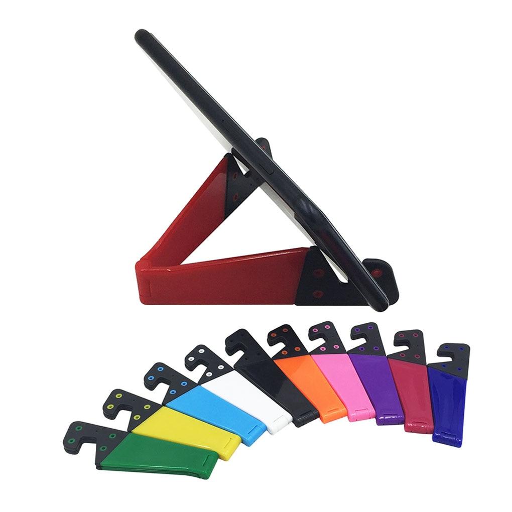 V Shape Adjustable Folding Mobile Smart Phone Tablet Holders Stands Portable Pocket Size Bracket