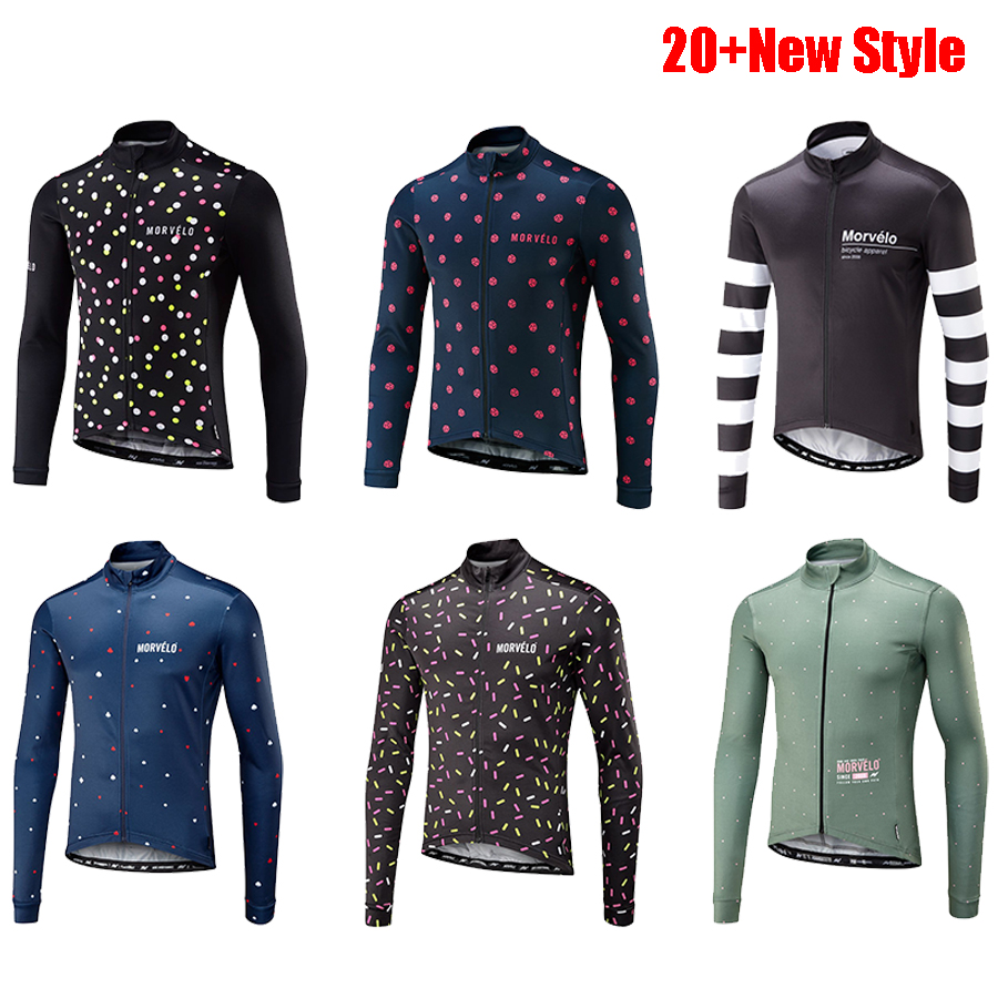 2019 Cycling Jersey Pro spring/autumn team Morvelo long sleeve mens cycling jersey Ropa Ciclismo Bike bicycle clothes Clothing