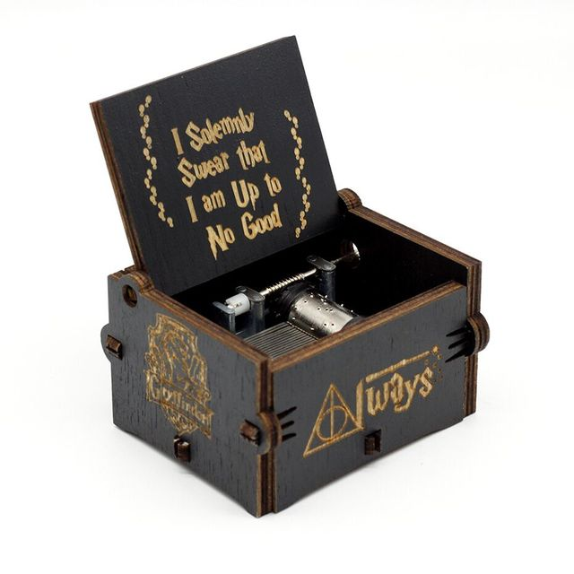 Engraved Wooden Harry Potter Music Box 2